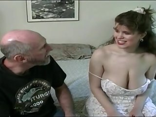 Tessa with a aged fart - chunky mammaries