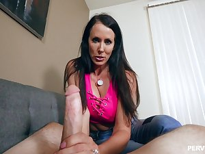 Ignorance MILF Reagan Foxx gets splotched with cum on her face