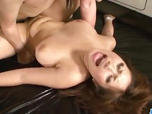 Neiro Suzuka blows surpassing a big dick to the fullest extent a finally in the car