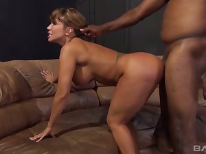 Giant breasted sexpot Ava Devine gets brutally analfucked by starless hunk
