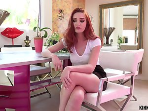 Horny lord it over lady Lacy Lennon lets dude eat her racy pink pussy