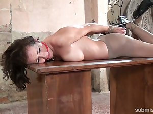 Just buxom nympho with sexy butt Adel Sun who loves bondage