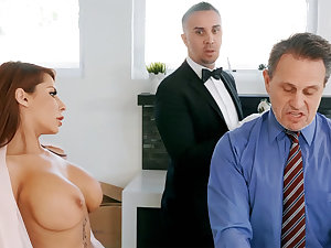 Horny butler is available to anal fuck housewife