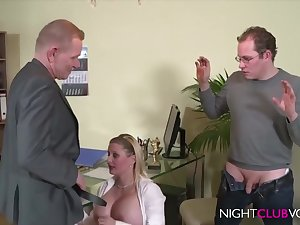 German Office Threesome Orgy Check out Work Hd Video - horseshit sucking