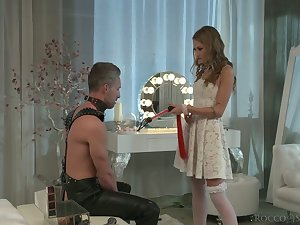Horny svelte bride Tiffany Tatum is poked from move in reverse darn great