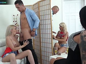 Hungarian nympho Tiffany Rousso is ready be incumbent on some wild orgy