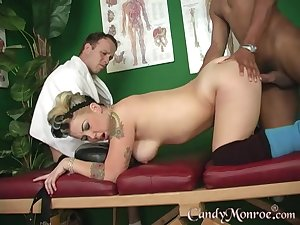 For Candy Monroe nothing is better than a rough interracial fuck