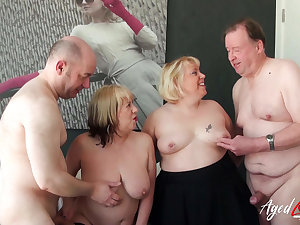 Two guys and Two Strata Hard Fuck Intimacy