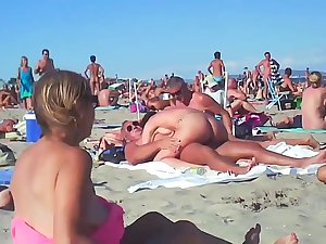 Couple Fucks At Hammer away Beach - public sex