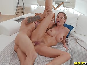 She's married but she doesn't mind fucking will not hear of step son