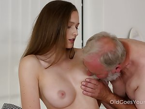 Likable fresh Czech sweeping Stacy Cruz is treated with cuni by older bastard