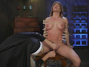 Sexy nun acts dominant approximately submissive lesbian sinner