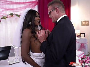 Interracial sexual connection on chum around with annoy wedding day of ebony Diamond Jackson