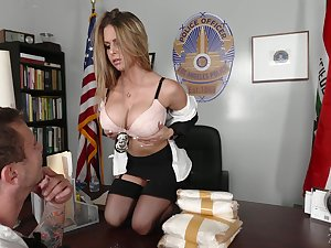 Busty officer Rachel Roxxx gets a mouthful be worthwhile for cum after crazy sex in rub-down the situation