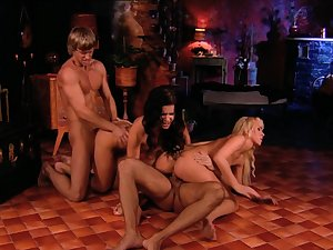 Aroused females are swapping the men in crazy foursome