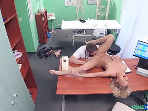 Doctor's big dick suits this blonde's thirst for porn