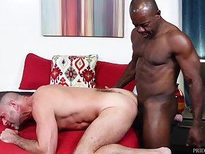 Black gay do the groundwork arse fucks his man bareback