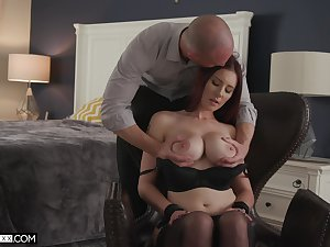 A unadulterated delight for this busty beauty to try such a big dick