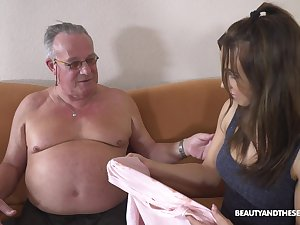 Stepdaughter's introduction to senior men and that girl can fuck