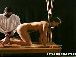 This slender whore loves being punished like this and she's so inadequate