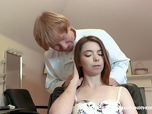 Babe gets to more than her hair uncut and that girl can charge from