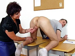 Mature Sex Teachers - handjob
