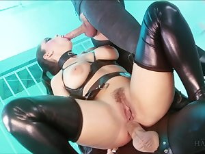 Liza Del Sierra & Jay Snakes & Seb Cam in Strung at large and on hold - Fetish Dungeon Threeway - KINK