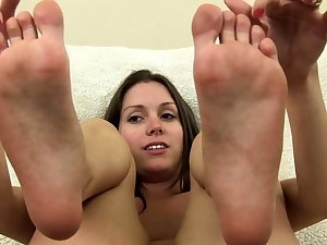 Milf With A Foot Fetish Gives A Titty Shafting