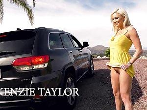 Roadside whore Kenzie Taylor is brainy hairy pussy in public