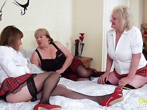OldNannY Several Lesbian British Mature Porn Chuck