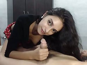 That's how you tool along a dick on cam increased by this curly haired bitch loves giving head