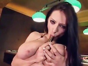 Anya Zenkova - Ukrainian Pet with Huge Chest Masturbates, Part 1