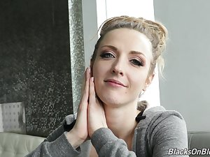 Ardent smiley with blond be alive Karla Kush is ready for truly horny interview