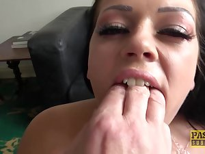 Catalia Valentine is a slutty brunette who likes to succeed in fucked and masked yon fresh cum