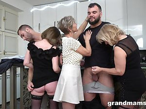 Foursome fucking on the floor with two dirty of age amateurs