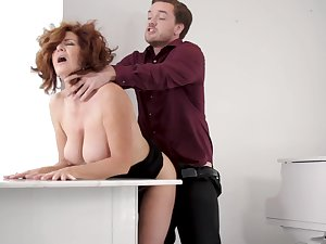 A bit chesty but super hot MILF Andi James is obtainable for some oral petting