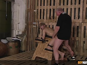 Daniel Hausser lends his throng to Master Sebastian Kane's pleasure