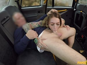 Horny girl Ava Austen gives the brush older taxi driver a special gift