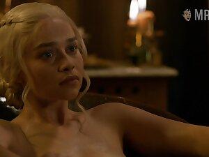 Game Of Thrones nude scenes featuring Emilia Clarke