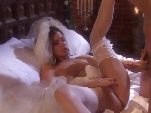 Interesting bride knows even so to please her man, while no one else is not there