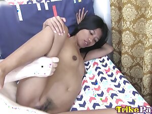 Slim Filipina hooker gets mercilessly fucked by a foreigner