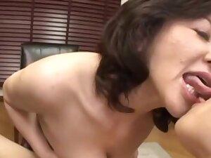 Mature Japanese pornstar Chizubu Terashima knows how to please a horseshit