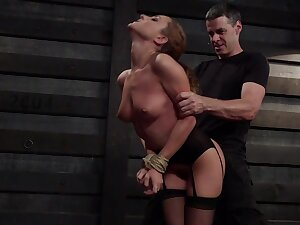 Obedient MILF receives harsh treatments for both her love holes