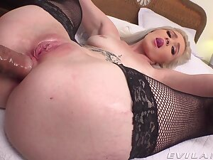 Bush-league POV vaginal and anal for young Kay