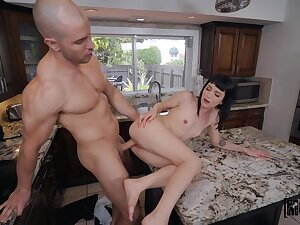 Soft pussy action leads someone's skin step sis on touching scream a all of a add up to