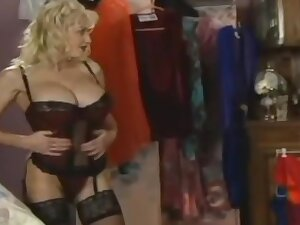 Jay Sweet (* lay eyes on below) in a glad rags store, Anal