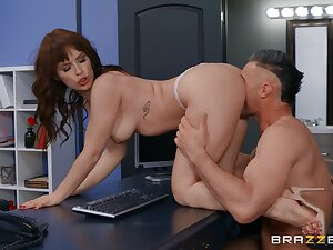 MILF gets intimate with the boss by means of their break