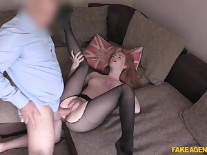 Young redhead Ella Hughes shines during hot shed fuck