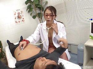 Hardcore fucking on the convalescent home purfle with doctor Hikari Nishino