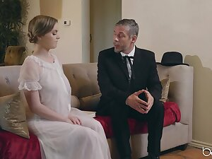 Bride to be gets her father in law to fuck her pussy right
